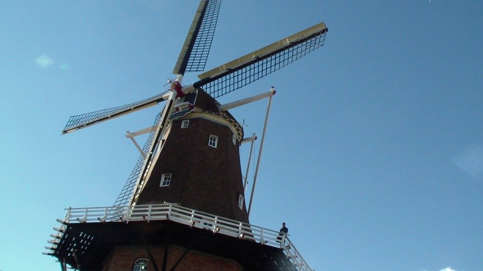 old windmill in the netherlands close up