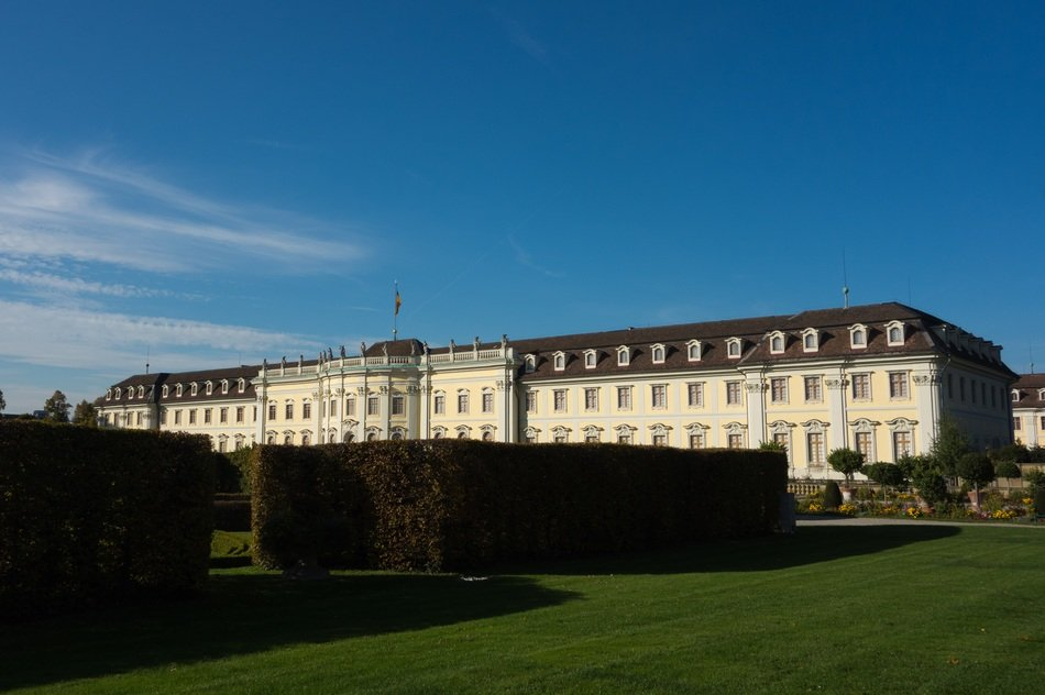 castle in the park in ludwigsburg in germany