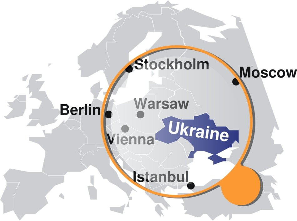 ukraine map location drawing