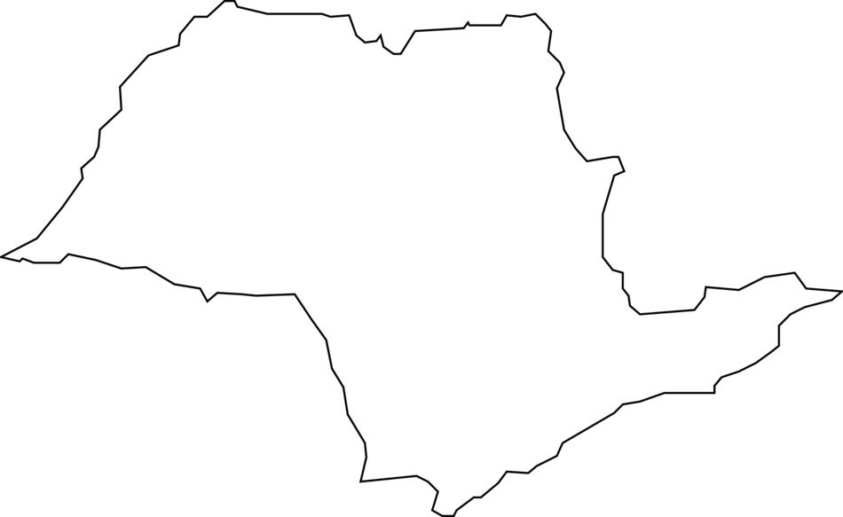 Sao paulo as a black and white map