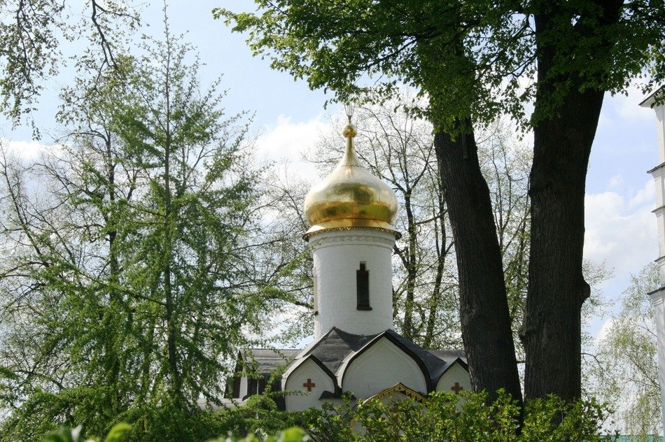 russian orthodox cathedral in summer
