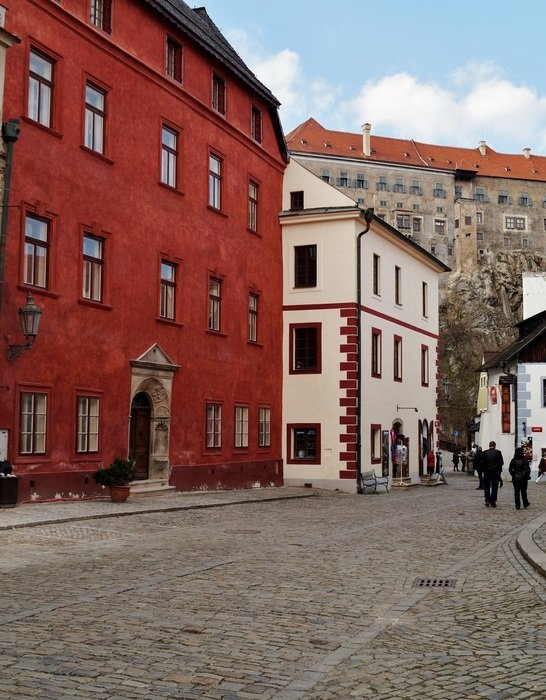 street of the old town in the Czech Republic