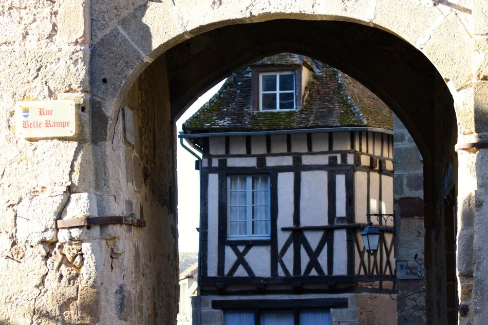 medieval arch of urban architecture in Saint Benoit du Su