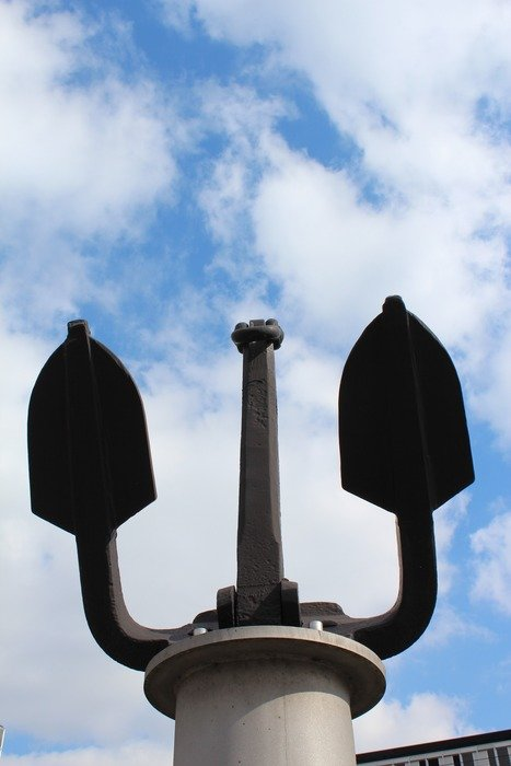 close-up monument to anchor