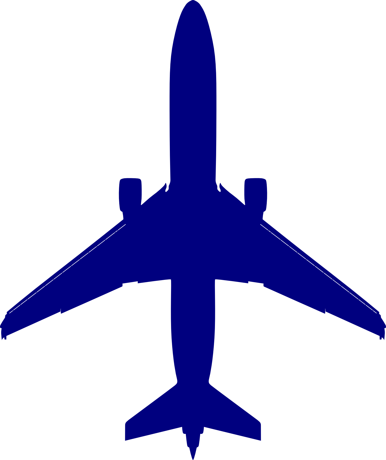 Blue Airplane Clipart Free Image