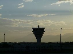 control tower for aviation safety