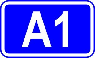 Freeway number Traffic sign