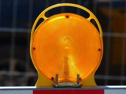 yellow warning light for a hazardous situation