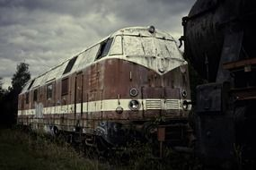 old abandoned train car