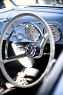 steering wheel vintage car
