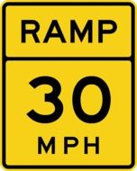 ramp 30 mph on a road sign