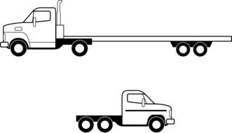 Picture of flatbed trucks