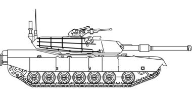 schematic image of a tank