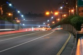 expressway in the night light