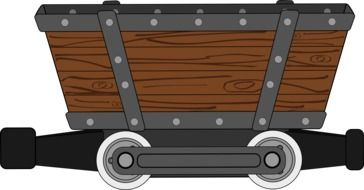 drawing of a freight train wagon