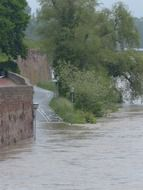 Danube River overflowed