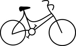 schematic image of a bicycle