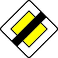 Sign of the end of the priority road clipart