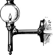 drawing of a candle street lamp