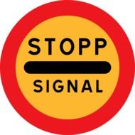 warning sign stop signal