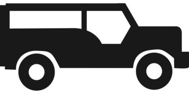 black jeep as a graphic image