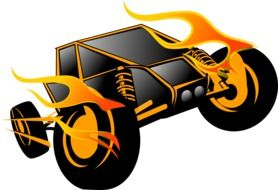 Fire race car