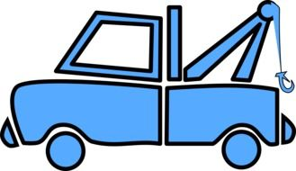 Blue recovery Van clipart