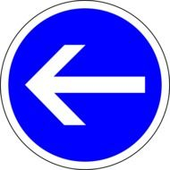 picture of blue traffic sign