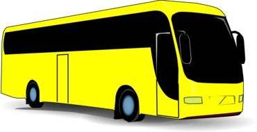 yellow travel bus