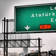 road sign to Ataturk Airport
