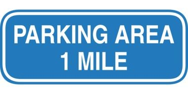 clipart of the blue parking area sign