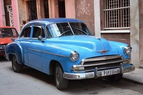oldtimer cuba vehicle blue havana