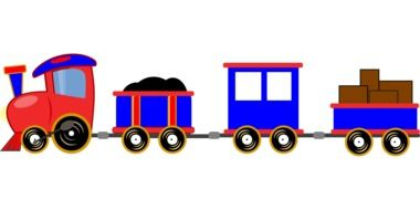 train cartoon toy drawing