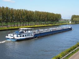 Cargo ship on the Amsterdam Rhine Canal