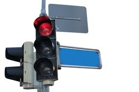 red signal of traffic light