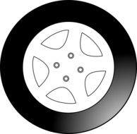 black tire wheel