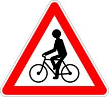 road signs Bicycle path