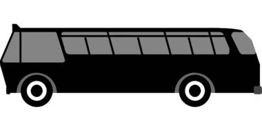 black travel bus