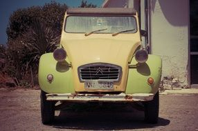 picturesque old car, greece, crete