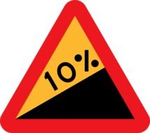 picture of steep hill upwards roadsign