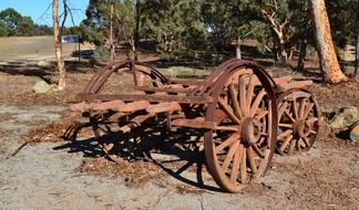 wagon junk old wheels scrap