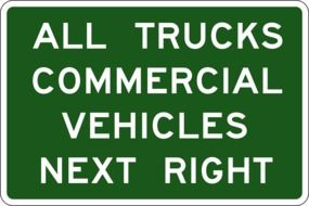 Road sign for the trucks clipart