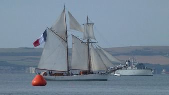 sailing ship in France