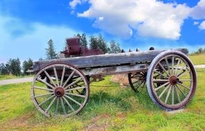 weathered wheel wagon