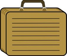 Brown suitcase clipart