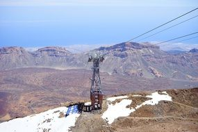 cable car in Teide National park, spain, canary islands