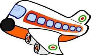 Colorful airplane clipart