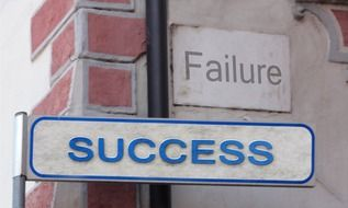 success and failure, alternative street signs
