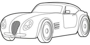 drawing of roadster