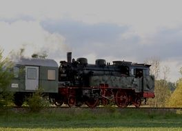blackjack locomotive on a railway